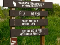 CE UpperFox Sign to public area near white river - 9