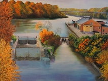 Tom Schultz painting of the Appleton 1st Lock