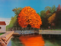 Tom Schultz painting of the Appleton 2nd Lock