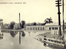 Undated photo of the Appleton government canal