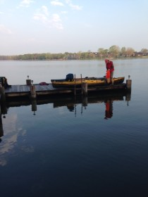 Loading up on the dock prior to 7am