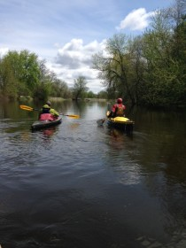 Floating the Fox River below Montello